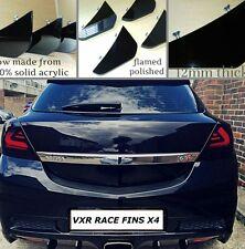 Vauxhall Astra VXR diffuser fins/race fins/diffuser/VXR/bumper fins/GLOSS BLACK