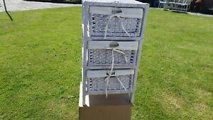 Large Medium Rectangular White Wicker Laundry Linen Basket w/ Lining Storage Box