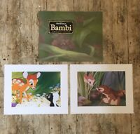2 x Disney Store BAMBI  Special Edition Prints 11x14 Lithographs Commemorative