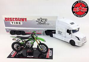 Chad Reed 22 Motorsports GIFT SET Kawasaki KXF450 Motocross Bike / 1:32 Truck