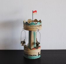 ANTIQUE EARLY GERMAN TIN WIND UP CAROUSEL TOY CLOCKWORK