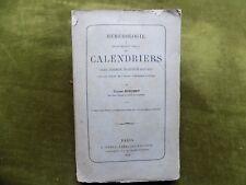 Hémérologie ou Traité complet des Calendriers Ulysse Bouchet 1968 Edition origin