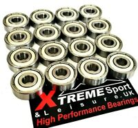 16 x 627 zz Xtreme CLASSIC HIGH PERFORMANCE SWISS CHROME ROLLER SKATE BEARINGS