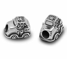 Stainless Steel London Taxi Beads / Car Charms For European Charm Bracelets