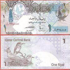 QATAR 1 RIYAL BIRDS NOTE UNC