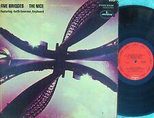 Nice ORIG US LP Five bridges VG+ '70 Mercury SR61295 Keith Emerson ELP Prog Rock