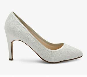 Rainbow Club Ivory Satin Bridal Shoe Size 7