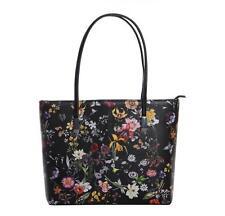 Fashion Women PU Leather Floral Messenger  Handbag Shoulder Bag Lady Black Tote