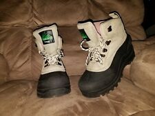 WOMEN'S ITASCA INSULATED WINTER BOOTS SIZE 8 black tan pink