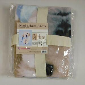 Rachael Hale Cute Dog Plush Throw Blanket Nordic Fleece 48x60