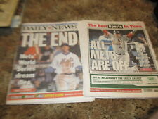 2 New York Newspapers St Louis Cardinals beat Mets 2006 NLCS  NY Post Daily News