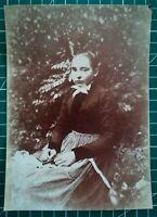 GG001 Photo circa 1890 TBE 16,5x12 cm Famille Portrait d'une jeune fille