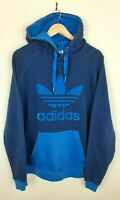 Mens Adidas Blue Pullover Big Logo Hoodie Size L Large