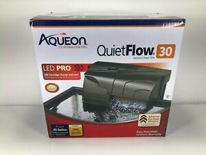 Aqueon QuietFlow 50 LED Pro Aquarium Power Filter - 50 Gallon Size: 30|50, #1179
