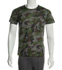 Y-1441945 Neu Saint Laurent Tarnfarbe Rundhals T-Shirt Größe L