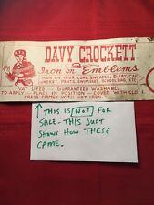 Thin Red 1950s Davy Crockett Patch Emblem ~ Folk Hero Tennessee Militia 61P6