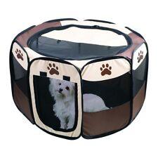 Portable Dog Pen – Outdoor & Indoor Puppy Pen – Paw Print Dog Playpen