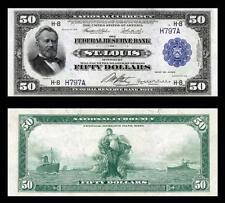NICE CRISP UNC. 1918 $50.00 FEDERAL RESERVE COPY NOTE READ DESCRIPTION!