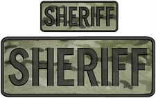 Sheriff embroidery Patch 4x10 and 2x5 hook  multicam