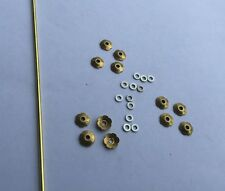 New! 12 Fancy Rosette Collars/Washers/pins Brass & NS repair Old Straight Razors