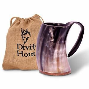 Horn Viking Beer Drinking Horn Mug Authentic Medieval Horn Tankard GIFT Birthday
