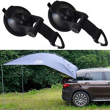 2x Suction Cup Anchor Securing Hook Tie Down,Camping Tarp as Car Side Awning