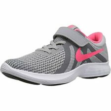 Nike Revolution 4 Girls Toddler Wolf Grey/Racer Pink Sneakers/Shoes Size 1Y