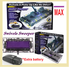 New* Walter Swivel Sweeper Latest Cordless Max Quad Brush with 2x batteries