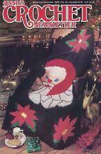Annie's Crochet Newsletter No. 84 Santa Afghan Granny Square Earrings & More
