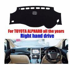 Dashboard Cover Dash Mat Sun Shade Carpet Pad All Black For Toyota Alphard RHD