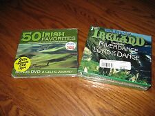 Lot of [2]  Irish  Music CD Box: Irish Favorites (5 CDs+ DVD] I Ship Faster
