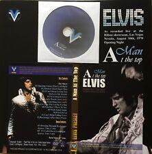 ELVIS A MAN AT THE TOP 2 LPS SOUNDBOARD 1 DVD 10/08/1970 ON. N° 266/500 SEALED