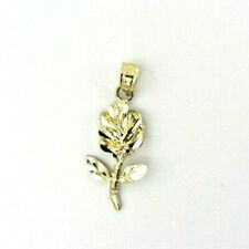 10k Yellow Gold Fine Jewelry ROSE Pendant