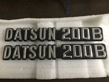 Datsun 200b Badges (pair)