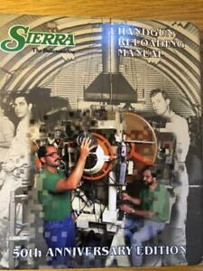 1995 SIERRA  BULLETS HANDGUN  RELOADING MANUAL 50TH ANNIVERSARY EDITION