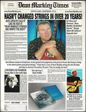 Rush Alex Lifeson for Dean Markley guitar strings ad 8 x 11 advertisement 2b