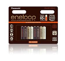 Panasonic Eneloop Chocolat AAA Limited Edition 800mAh NiMH rechargeable - 8pk