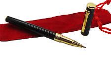 FREEMASON GOLD plated Rollerball Pen with Case Luxury Gift Masonic Logo Badge