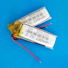 2 pcs 3.7V 180mAh Li Po Polymer ion Battery for MP3 GPS Headset Bluetooth 501235