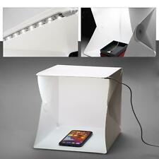 Mini LED Light Box Photography Photo Studio Portable Tent Backdrop Lighting Cube