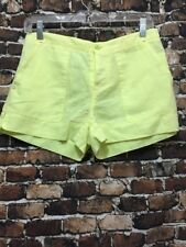 C&C California Womens Yellow Sunshine Linen Utility Pocket Shorts XS NWT