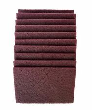 6 Inch x 9 Inch Non Woven Hand Pads - Maroon Very Fine (20 Pack, Maroon)