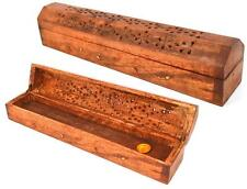Wooden Incense Stick Holder Burning Joss Insence Box Insense Burner Random Desig
