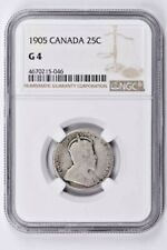 1905 Canada 25 Cents NGC G 4 Witter Coin