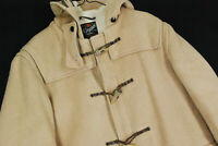 Vintage Glvoerall Dolomite Duffle Coat Toggle Jacket Wool Mens 40 Camel Tan