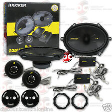 "KICKER CSS684 6"" x 8"" 2-WAY CAR AUDIO COMPONENT SPEAKERS (PAIR) 40CSS684"