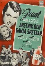ARSENIC AND OLD LACE Movie POSTER 27x40 C Cary Grant Priscilla Lane Raymond