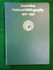 Australian National Bibliography 1901-1950.