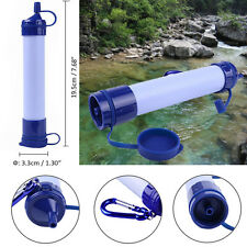Outdoor Survival Purification Water Filter Bottles Emergency Cleaner Portable