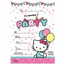 HELLO KITTY 20 PARTY INVITATIONS WITH ENVELOPES INVITES BIRTHDAY PARTY GIRLS